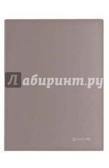 Папка с металлическим скоросшивателем и внутренним карманом, серебистая (221353)