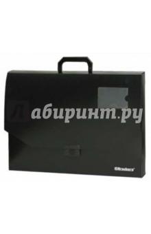Портфель пластиковый, А3 без отделений, черный (221371)