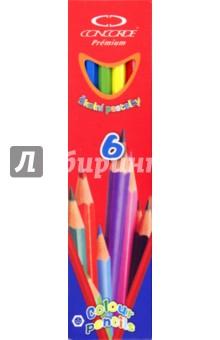"""Карандаши 6 цветов """"Premium"""" (A1019)"""