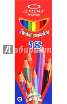 """Карандаши 18 цветов """"Premium"""" (A1021)"""