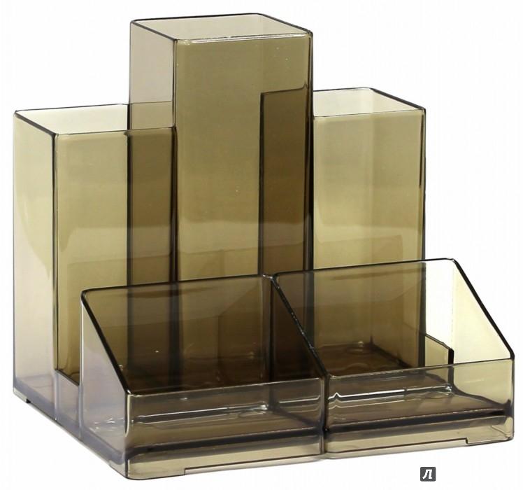 Иллюстрация 1 из 8 для Подставка-органайзер, тонированная (230994) | Лабиринт - канцтовы. Источник: Лабиринт