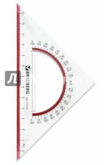 """Треугольник """"Сrystal"""" с транспортиром 45*13 см (210293) Brauberg"""