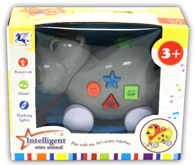 Иллюстрация 1 из 6 для Бегемотик музыкальный в коробке (217)   Лабиринт - игрушки. Источник: Лабиринт
