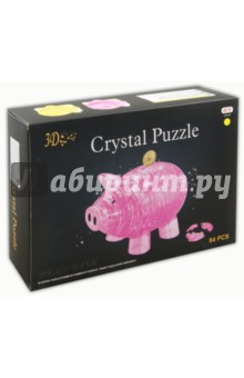 """Головоломка 3D Crystal Puzzle """"Свинья - копилка"""" XL (HJ027166)"""