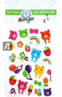 """Наклейки детские """"Мишки"""" (ZF015)"""
