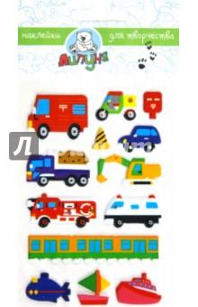 "Наклейки детские ""Машинки 2"" (ZF017)"