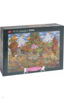 Puzzle-2000 Поезд Mordillo (29360)Пазлы (2000 элементов и более)<br>Пазлы-мозаика.<br>Правила игры: вскрыть упаковку и собрать игру по картинке.<br>В коробке 2000 пазлов.<br>Размер собранной картинки: 96х68 см.<br>Не давать детям до 3-х лет из-за наличия мелких деталей.<br>Материал: картон<br>Сделано в Германии.<br>