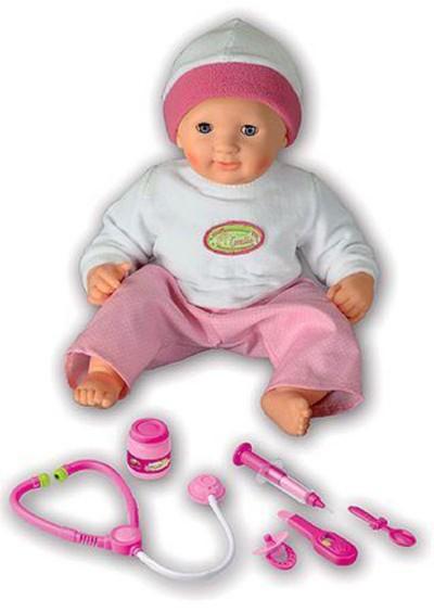 """Иллюстрация 1 из 2 для Кукла интерактивная """"Маленький пациент"""", 38 см (1636)   Лабиринт - игрушки. Источник: Лабиринт"""