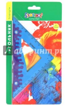 """Угольник """"Colorful"""" 45°/120мм: прорезиненный корпус (540091) Silwerhof"""