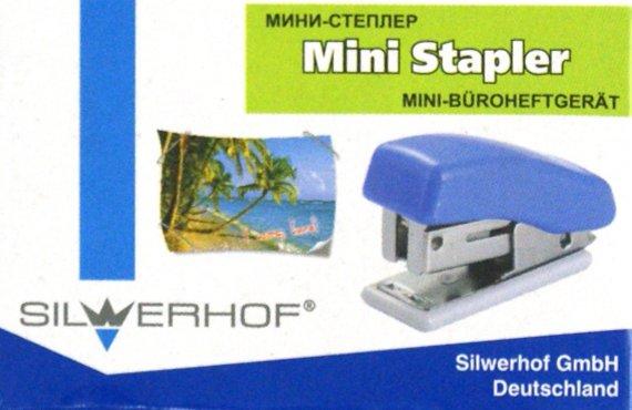 Иллюстрация 1 из 2 для Мини-степлер №24 на 16 листов, синий (401015-28) | Лабиринт - канцтовы. Источник: Лабиринт