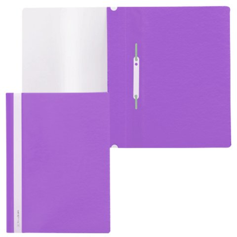 Иллюстрация 1 из 3 для Скоросшиватель пластиковый, фиолетовый (220388) | Лабиринт - канцтовы. Источник: Лабиринт