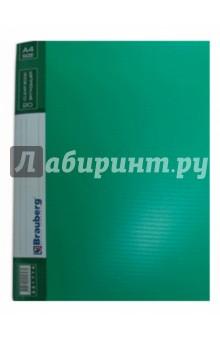 "Папка на 20 вкладышей ""Contract"" зеленая. 0,7 мм (221774) Brauberg"