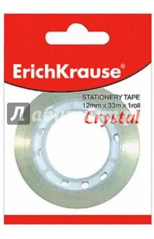 """Лента клейкая 12х33мм """"Crystal"""" прозрачная (222298) Erich Krause"""