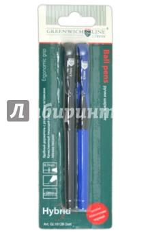 Набор ручек шариковых. 2 цвета синий + черный (GL1012B-2set)