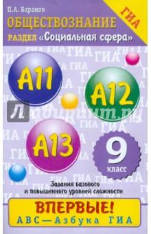 ГИА-2012. Обществознание. 9 класс. Содержательный блок Социальная сфера