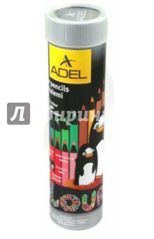 Карандаши цветные Colour (24 цвета) (211-2362-003)Цветные карандаши более 20 цветов<br>Карандаши цветные  Blackline изготовлены из черного дерева.<br>Диаметр 2,8 мм.<br>24 цвета.<br>Упаковка - алюминиевый тубус.<br>Сделано в Турции.<br>