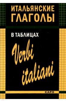 Итальянские глаголы в таблицах