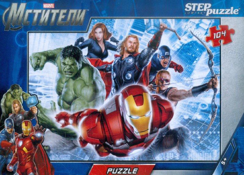 Иллюстрация 1 из 5 для Step Puzzle-104. MARVEL Мстители (82113) | Лабиринт - игрушки. Источник: Лабиринт