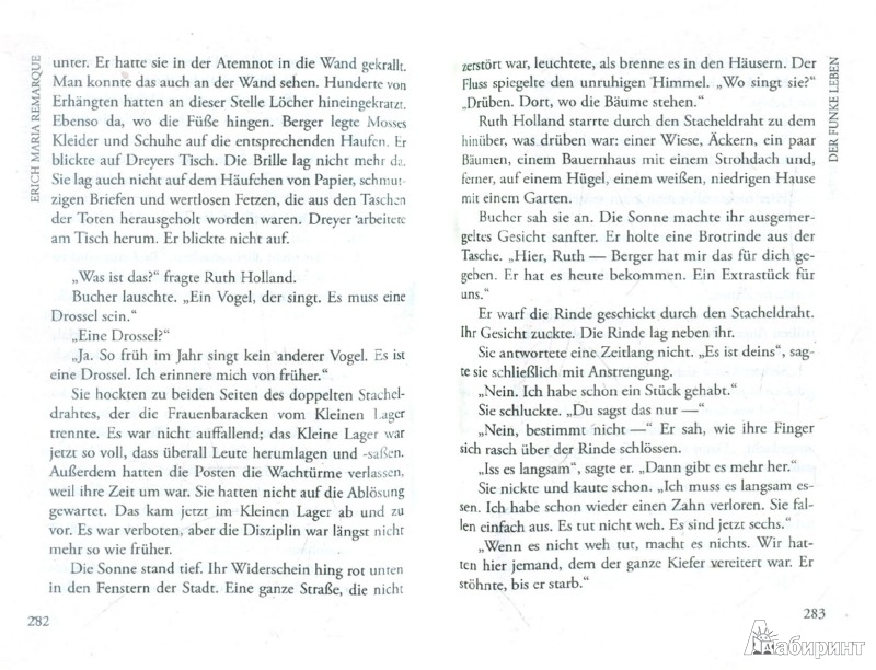 Иллюстрация 1 из 7 для Der Funke Leben - Erich Remarque | Лабиринт - книги. Источник: Лабиринт