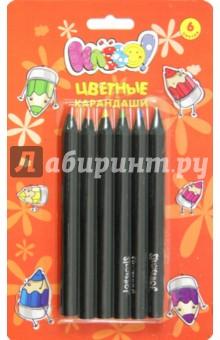 Карандаши 6 цветов Jumbo (120 мм) Клёво! (134001-06)Цветные карандаши 6 цветов (4—8)<br>Набор цветных карандашей, 6 цветов, заточенные. <br>- для дома и школы;<br>- увеличенный диаметр;<br>- яркие цвета;<br>- корпус из натуральной древесины, лакированный;<br>- круглый корпус.<br>Упаковка: блистер с европодвесом.<br>Предназначены для рисования на бумаге и картоне.<br>Безопасен при использовании по назначению.<br>Для детей от 3-х лет.<br>Производство: Китай.<br>