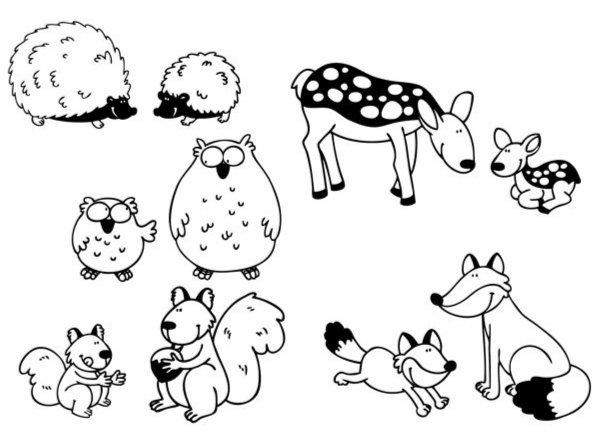 """Иллюстрация 1 из 2 для Стампоминос """"Обитатели леса. Большие и маленькие"""" (85104)   Лабиринт - игрушки. Источник: Лабиринт"""