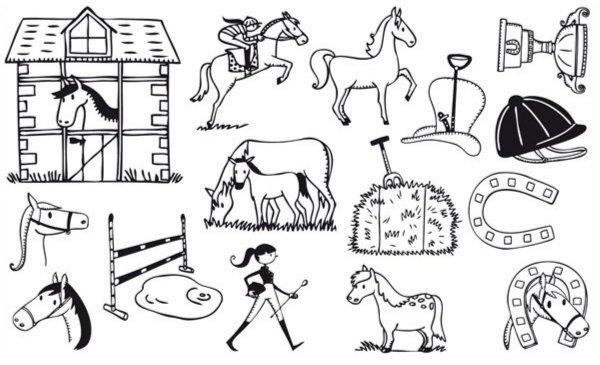 Иллюстрация 1 из 3 для Придумай историю – Про лошадей (85053) | Лабиринт - игрушки. Источник: Лабиринт