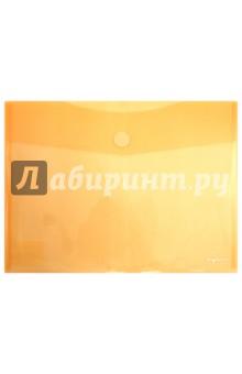 """Папка-конверт на липучке """"Elegance"""" А4, оранжевая (230710-71)"""