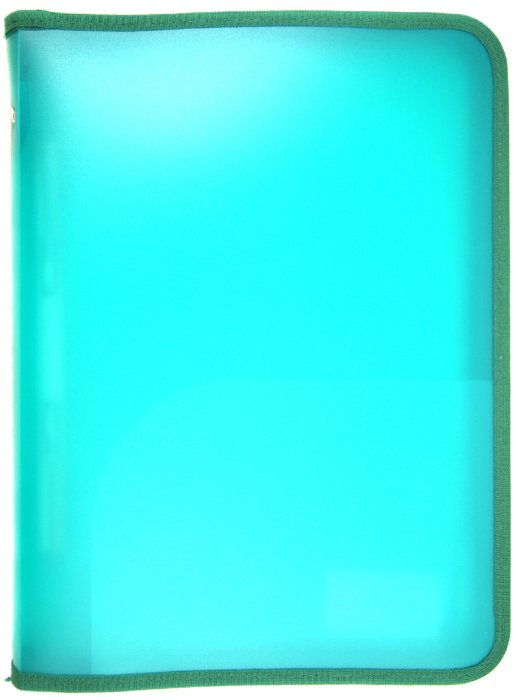 Иллюстрация 1 из 7 для Папка скоросшиватель, А4, пластиковая, на молнии, зеленая (255014-03) | Лабиринт - канцтовы. Источник: Лабиринт