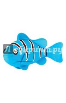 РобоРыбка. Голубая рыбка Клоун (2501-3)Роботы и трансформеры<br>Электронная игрушка Голубая Рыбка Клоун - это маленькая, симпатичная и компактная рыбка создана с использованием самых последних технологий. Эта игрушечная рыбка очень натурально повторяет движения настоящей рыбы-клоуна. Чтобы активировать ее, просто достаньте ее из упаковки и опустите в воду, рыбка тут же заспешит по своим рыбьим делам. Такая игрушка приведет восторг не только Ваших детей, но и удивит взрослых. Целый аквариум таких рыбок - очень красивое зрелище, а главное у них не надо убирать, кормить и менять воду. Если рыбка перестанет двигаться, достаточно сменить ей батарейки, и она снова готова радовать Вас. <br>Для работы рыбки требуются 2 батарейки LR44 (есть в комплекте).<br>Для детей от 3-х лет.<br>Длина рыбки 7,5 см.<br>Изготовлено из пластмассы, с элементами из резины и металла.<br>Сделано в Китае.<br>