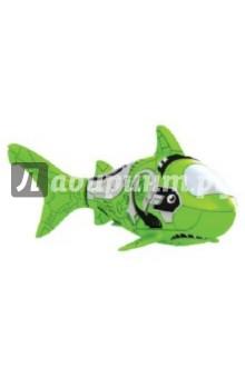 РобоРыбка. Зеленая Акула (2501-7)Роботы и трансформеры<br>Электронная игрушка Зеленая Акула - это маленькая, умная и компактная рыбка создана с использованием самых последних технологий. Эта игрушечная рыбка очень натурально повторяет движения настоящей акулы. Чтобы активировать ее, просто достаньте ее из упаковки и опустите в воду, рыбка тут же заспешит по своим рыбьим делам. Такая игрушка приведет восторг не только Ваших детей, но и удивит взрослых. Целый аквариум таких рыбок - очень красивое зрелище, а главное у них не надо убирать, кормить и менять воду. Если рыбка перестанет двигаться, достаточно сменить ей батарейки, и она снова готова радовать Вас. <br>Для работы рыбки требуются 2 батарейки LR44 (есть в комплекте).<br>Для детей от 3-х лет.<br>Длина рыбки 8,4 см.<br>Изготовлено из пластмассы, с элементами из резины и металла.<br>Сделано в Китае.<br>
