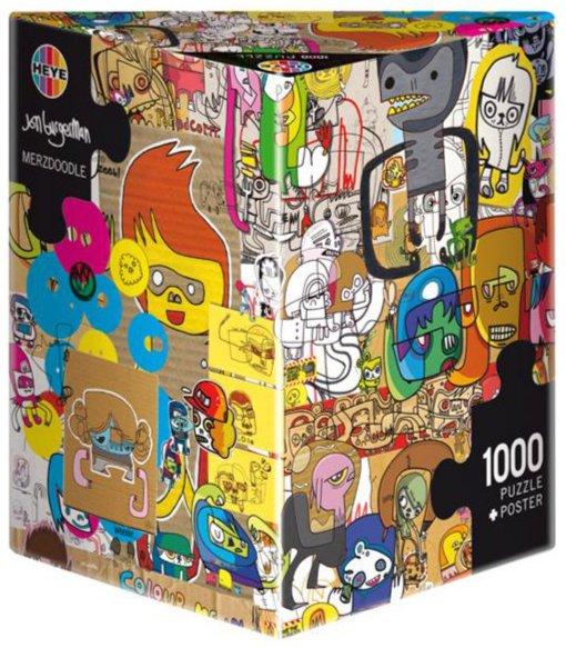 """Иллюстрация 1 из 2 для Puzzle -1000 """"Каракули, Burgerman"""" (29490)   Лабиринт - игрушки. Источник: Лабиринт"""