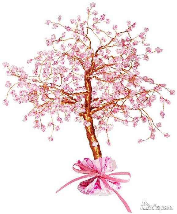 """Бисероплетение.  Набор для изготовления бисерного дерева  """"Сакура """" арт.  АА 46-101 (Клеvер) ."""