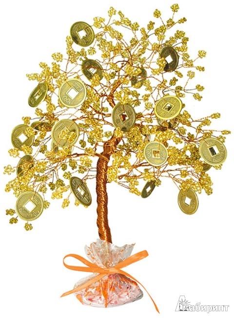 """Набор для изготовления бисерного  """"Денежного дерева """" ."""