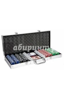 Настольная игра Набор для игры в покер 500 фишек (24936)