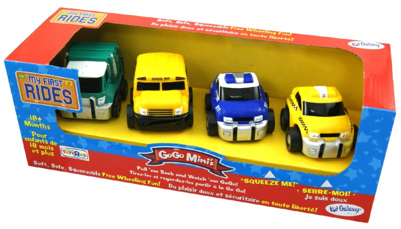 """Иллюстрация 1 из 2 для Набор машинок """"GoGo Mini's"""" 4 штуки (10561)   Лабиринт - игрушки. Источник: Лабиринт"""