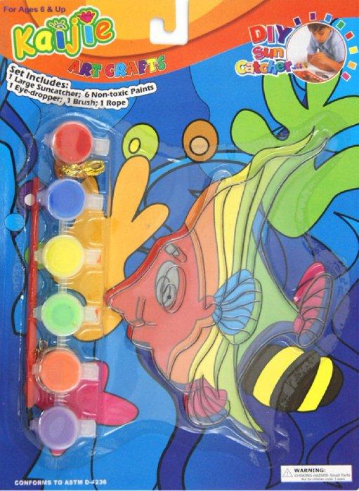 """Иллюстрация 1 из 5 для Витраж """"Рыбка"""" треугольная (2512)   Лабиринт - игрушки. Источник: Лабиринт"""