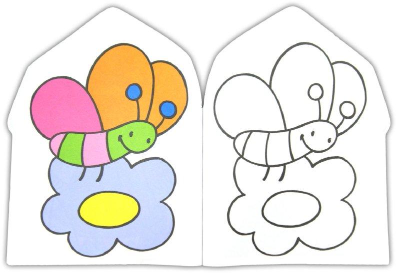 Раскраска с головоломкой для малышей