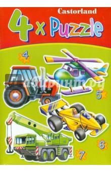 """Puzzle-4*5*6*7. """"Транспорт"""" (4 в 1) (В-04140)"""