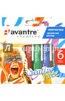 Грим детский для лица 6 цветов Creative face (291)