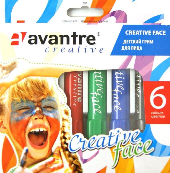 """Иллюстрация 1 из 9 для Грим детский для лица 6 цветов """"Creative face"""" (291)   Лабиринт - игрушки. Источник: Лабиринт"""