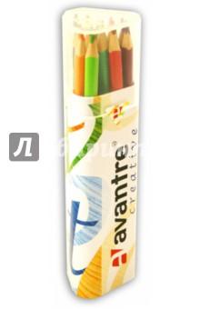 Карандаши цветные трехгранные Avantre Creative 18 цветов, в металлическом тубусе (AV-PNC08)Цветные карандаши 18 цветов (15—20)<br>Набор цветных карандашей.<br>Количество цветов: 18.<br>Предварительно заточенные.<br>Трехгранный корпус снижает усталость и обеспечивает максимальный уровень комфорта.<br>Насыщенные яркие цвета.<br>Невероятно мягкий ударопрочный грифель, проклеенный по всей длине.<br>Не ломаются и не крошатся при заточке.<br>Многослойная лакировка уменьшает скольжение.<br>Безвредно для человека и окружающей среды.<br>Для детей от 3-х лет.<br>Упаковано в трехгранный металлический тубус с прозрачной пластиковой крышкой.<br>Сделано в Швейцарии.<br>