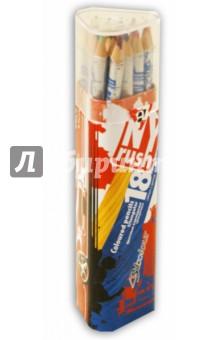 """Карандаши цветные трехгранные """"NY Rush"""" 18 цветов, в металлическом тубусе (S1102NR)"""