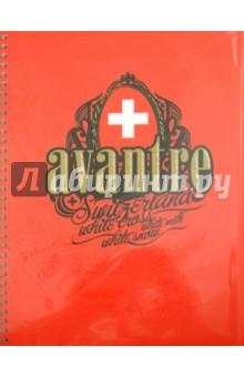 """Тетрадь 80 листов """"White Cross Originals"""", клетка, А4, красная (SW121P3)"""