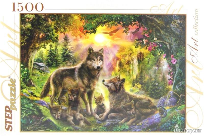 """Иллюстрация 1 из 7 для Step Puzzle-1500 """"Волки"""" (83046)   Лабиринт - игрушки. Источник: Лабиринт"""