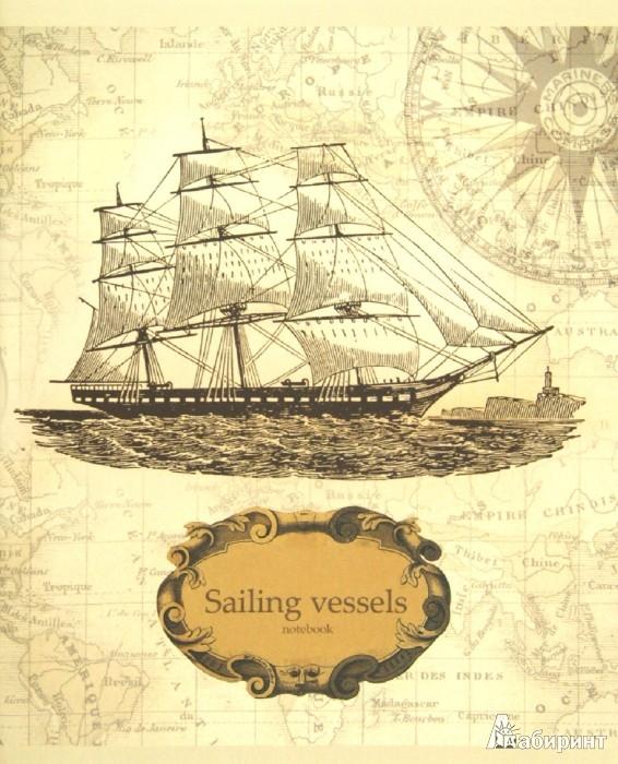 """Иллюстрация 1 из 2 для Тетрадь 48 листов, клетка, А5 """"Старинные корабли"""" 5 видов (ТКСЛ483548)   Лабиринт - канцтовы. Источник: Лабиринт"""