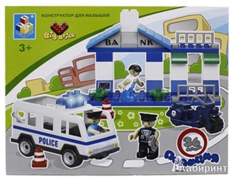 """Иллюстрация 1 из 2 для Конструктор Big Brick """"Полиция"""" 36 деталей (Т53542)   Лабиринт - игрушки. Источник: Лабиринт"""