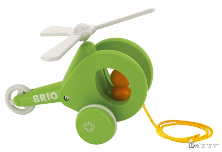 Иллюстрация 1 из 4 для Каталка-Вертолет, на веревочке (30195) | Лабиринт - игрушки. Источник: Лабиринт