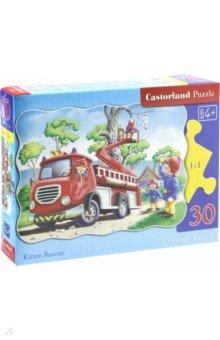 Мозаика-пазл, Puzzle MIDI, 30 элементов, Спасение котенка (В-03174)Пазлы (15-50 элементов)<br>Пазлы-мозаика для детей.<br>Правила игры: вскрыть упаковку и собрать игру по картинке.<br>Размер собранной картинки: 32х23 см.<br>Пазл из 30 элементов.<br>Не давать детям до 3-х лет из-за наличия мелких деталей.<br>Срок годности не ограничен.<br>Сделано в Польше<br>