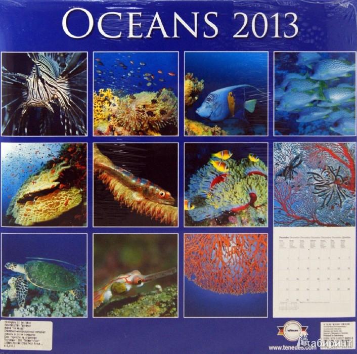 "Иллюстрация 1 из 2 для Календарь 2013 ""Океаны"" (75822) | Лабиринт - сувениры. Источник: Лабиринт"