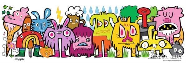 """Иллюстрация 1 из 2 для Puzzle-1000 """"В парке"""" панорама, Jon Burgerman (29455)   Лабиринт - игрушки. Источник: Лабиринт"""